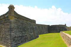 Castillo de San Marcos em St Augustine, Florida Fotografia de Stock Royalty Free