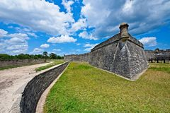 Castillo de San Marcos em St Augustine, Florida, EUA Foto de Stock Royalty Free