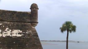 Castillo DE San Marcos - Heilige Augustine, Florida stock footage