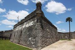 Castillo de San Marcos. National monument Castillo de San Marcos in st Augustine Stock Photo