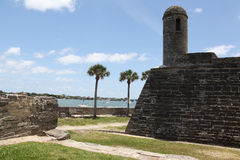 Castillo de San Marcos. National monument Castillo de San Marcos in st Augustine Stock Images