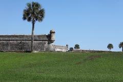 Castillo de San Marcos. National monument Castillo de San Marcos in st Augustine royalty free stock photo