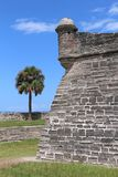 Castillo de San Marcos. The Castillo de San Marcos is the oldest masonry fort in the continental United States. Located on the western shore of Matanzas Bay in royalty free stock photo