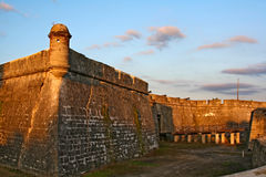 Castillo de San Marcos in St. Augustine, Florida. USA stock photo