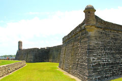 Castillo de San Marcos in St. Augustine, Florida. Ancient fort Stock Photography