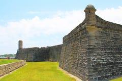 Castillo de San Marcos in St. Augustine, Florida. Ancient fort Stock Photos