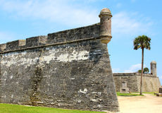 Castillo de San Marcos in St. Augustine, Florida. Ancient fort Royalty Free Stock Photo