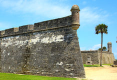Castillo de San Marcos in St. Augustine, Florida. Ancient fort Royalty Free Stock Images