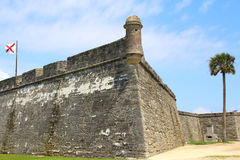 Castillo de San Marcos in St. Augustine, Florida. Ancient fort royalty free stock photos
