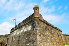 Castillo de San Marcos in St. Augustine, Florida. Royalty Free Stock Images