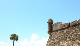 Castillo de San Marcos in St. Augustine, Florida. Ancient fort Royalty Free Stock Image