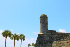 Castillo de San Marcos in St. Augustine, Florida. Ancient fort Stock Images