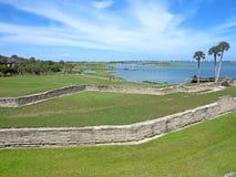 Castillo de San Marcos, St. Augustine, Florida. The Castillo de San Marcos Fort in St Augustine, Florida looking towards the Atlantic Stock Photos