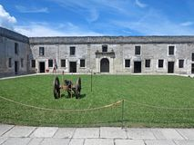 Castillo de San Marcos, St. Augustine, Florida. Inside the Castillo de San Marcos Fort in St Augustine, Florida Royalty Free Stock Photos