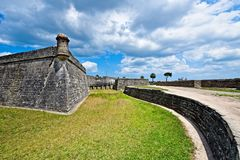 Castillo de San Marcos in St. Augustine, Florida, USA. This is am image of historic American fort, Castillo de San Marcos located in St. Augustine Florida, USA Royalty Free Stock Photo