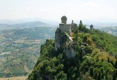 Castillo de San Marino foto de archivo libre de regalías