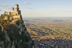 Castillo de San Marino Imagen de archivo libre de regalías