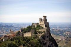 Castillo de San Marino Fotografía de archivo libre de regalías
