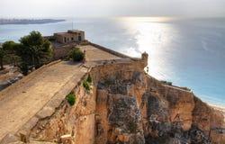 Castillo de Santa Barbara. Castle in Alicante - Spain - HDR Royalty Free Stock Photography