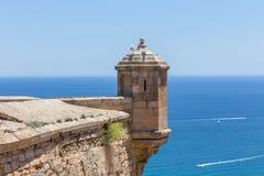 Castillo de Santa Barbara Alicante spagna fotografie stock libere da diritti