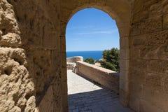 Castillo DE Santa Barbara Alicante Spanje stock fotografie