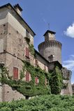 Castillo de Sartirana, lomellina Fotografía de archivo