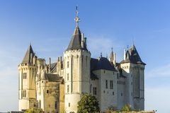 Castillo de Saumur Saumur, Maine y el Loira, Francia imágenes de archivo libres de regalías