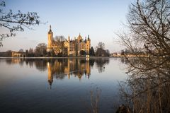 Castillo de Schwerin, Alemania imagen de archivo