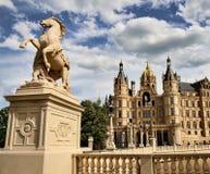 Castillo de Schwerin, Alemania norteña Imagen de archivo