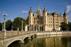 Castillo de Schwerin en Alemania Foto de archivo