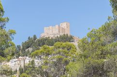 Castillo de Segura de la Sierra, Jaén, España imagen de archivo libre de regalías