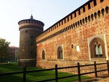 Castillo de Sforza Imagenes de archivo