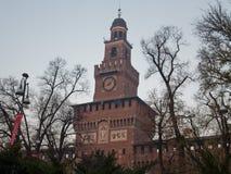 Castillo de Sforzesco Fotografía de archivo libre de regalías