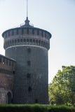 Castillo de Sforzesco de Milán Fotos de archivo libres de regalías