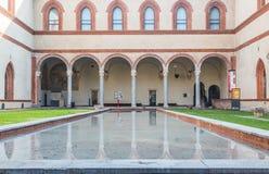 Castillo de Sforzesco de Milán Fotografía de archivo libre de regalías