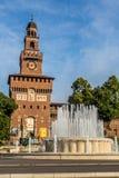 Castillo de Sforzesco de Milán Fotos de archivo