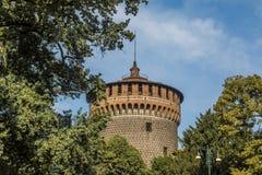 Castillo de Sforzesco de Milán Fotografía de archivo