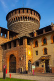 Castillo de Sforzesco en Milán, Italia Imágenes de archivo libres de regalías