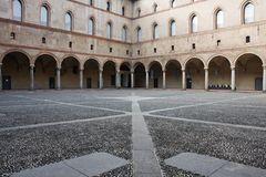 Castillo de Sforzesco, en Milano Foto de archivo