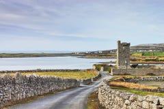 Castillo de Shanmuckinish, el Burren, Irlanda. Imagen de archivo