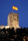 Castillo de Sohail i Fuegirola, Spanien Arkivbilder