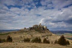 Castillo de Spi? en Eslovaquia del este Fotos de archivo