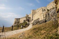 Castillo de Spiski Hrad Foto de archivo libre de regalías