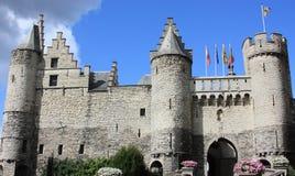 Castillo de Steen en Amberes, Bélgica imagen de archivo