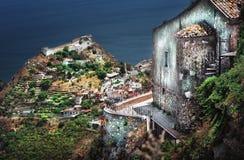 Castillo de Taormina fotografía de archivo libre de regalías