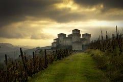 Castillo de Torrechiara Fotografía de archivo