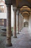 Castillo de Torrechiara, corte del honor Imagen de archivo libre de regalías