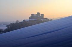 Castillo de Torrechiara el el invierno #3 Foto de archivo libre de regalías
