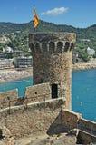 Castillo de Tossa de Mar Imagen de archivo