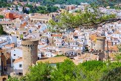 Castillo de Tossa de Mar en Costa Brava de Cataluña Foto de archivo